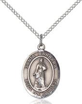 Women's Bliss Sterling Silver Santa Barbara Medal Pendant Necklace 8006S... - $49.50