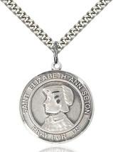 Men's Bliss Sterling Silver St. Elizabeth Ann Seton Medal Pendant Necklace  - $64.50