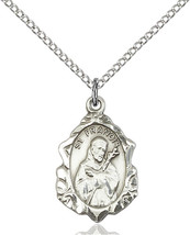 Women's Bliss Sterling Silver St. Francis Medal Pendant Necklace  - $51.50