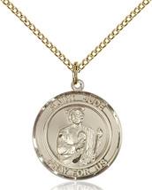 Women's Bliss Gold Filled St. Jude Medal Pendant Necklace 8060RDGF/18GF - $120.50