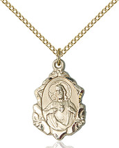 Women's Bliss Gold Filled St. Jude Medal Pendant Necklace 0822JGF/18GF - $94.00