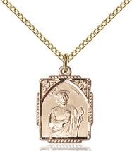 Women's Bliss Small Gold Filled St. Jude Medal Pendant Necklace  - $100.00