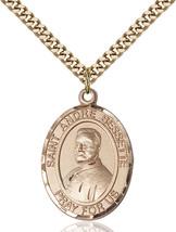 Men's Bliss Gold Filled St. Andre Bessette Medal Pendant Necklace  - $132.50