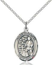 Women's Bliss Sterling Silver St Sebastian Karate Medal 8615SS/18SS 8615SS/18SS - $52.50