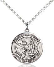 Women's Bliss Silver Our Lady Virgen De Lourdes Medal Pendant Necklace  - $1.096,49 MXN