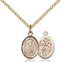 Bliss Small GF St. Sebastian Golf Sports Medal Pendant Necklace For Chil... - $1.218,33 MXN