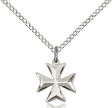 Women's Bliss Small Sterling Silver Maltese Cross 5992SS-CX/18SS - $44.00