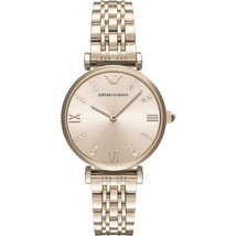 Emporio Armani Ladies Stainless Steel Rose Gold Tone Watch AR11059  - $185.25 CAD