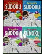 Lot 4 SUDOKU Large Print Puzzle Books by Papp - 80 Puzzles Ea Vol #15,16... - $14.84
