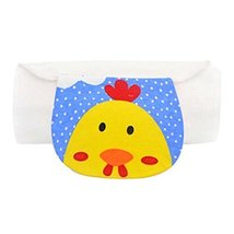 Set of 2 Yellow Chick Pattern Baby Towels for Sweat Absorbent, M