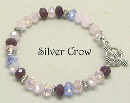 Crystal Variegated Pink Bracelet - $18.99