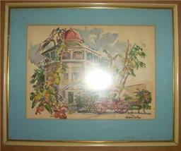 FRAMED & SIGNED CECILE RYDEN JOHNSON BAHAMAS LI... - $191.03