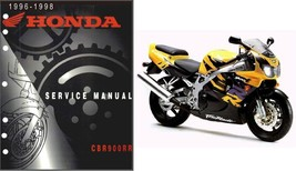 96-98 Honda CBR900RR Fireblade Service Repair Workshop Manual CD - CBR 900 RR - $12.00