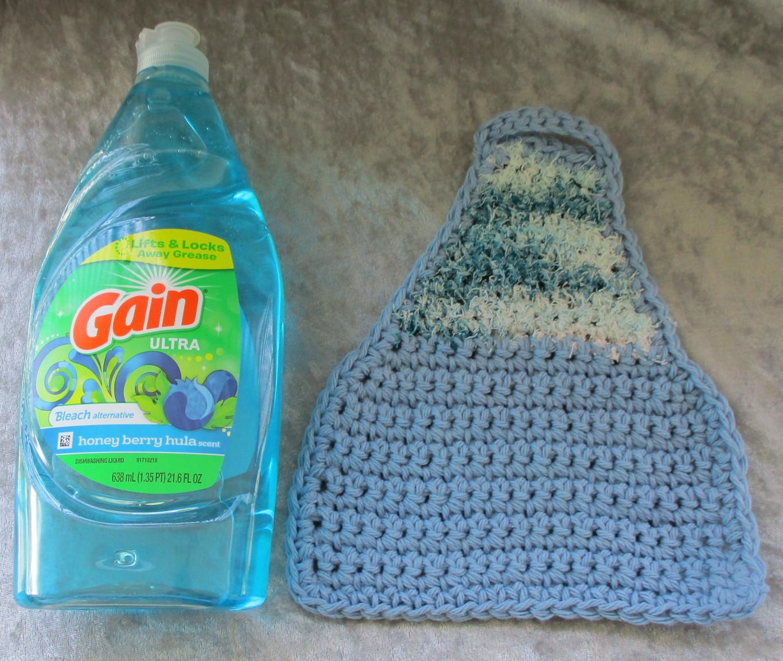 Eco Friendly Dish Cloth Apron with Scrubbie