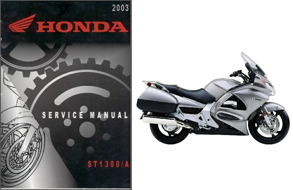 2002-2013 Honda ST1300 Service Repair Workshop Manual on a CD -- ST 1300