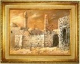 "FRENCH ARTIST 1978 ORIGINAL PAINTING ""ARI ARAD"" ISRAEL - $2,925.00"