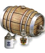 DOLLHOUSE Beer Barrel with Steins 1.802/8 Miniature Reutter Porcelain Mi... - $19.00