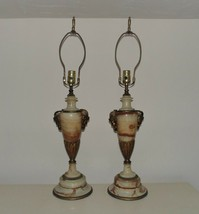 Pair of Onyx Table Lamps w/ Heads & Horns - $499.00