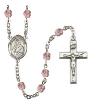Women's St Alexandra Rosary Beads Silver Plated Birthstone June R6000LAM... - $74.55