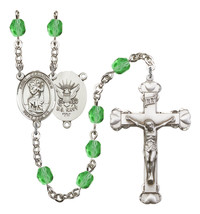 Women's St Christopher Rosary Beads Birthstone August R6001PDS-8022S6 - $74.55