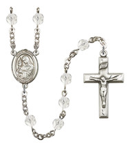 Women's St Clare Of Assisi Rosary Beads Birthstone April R6000CS-8028 - $74.55