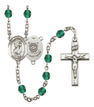 Women's St Christopher Rosary Beads Birthstone December R6000ZCS-8022S3 - $74.55