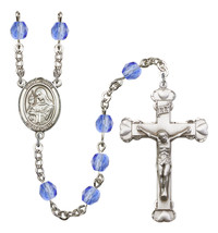 Women's St Clare Of Assisi Rosary Beads Birthstone September R6001SAS-8028 - $74.55