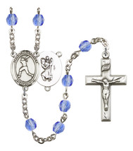 Women's St Christopher Rosary Beads Birthstone September R6000SAS-8145 - $74.55