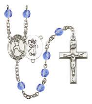 Women's St Christopher Rosary Beads Birthstone September R6000SAS-8145 - $74.55