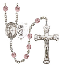 Women's St Christopher Rosary Beads Silver Plated Birthstone June R6001LAMS-8138 - $74.55