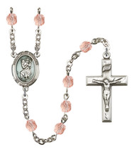 Women's St Christopher Rosary Beads Birthstone October R6000PKS-8022E - $74.55