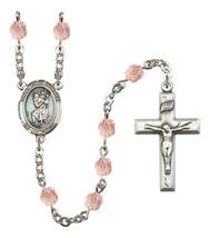 Women's St Christopher Rosary Beads Birthstone October R6000PKS-8022E - $74.55