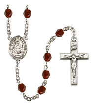 Women's St Edburga Of Winchester Rosary Beads Birthstone January R6000GT... - $74.55