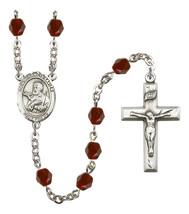 Women's St Francis Xavier Rosary Beads Birthstone January R6000GTS-8037 - $74.55