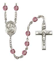 Women's St Francis Xavier Rosary Beads Birthstone Febuary R6000AMS-8037 - $74.55