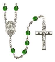 Women's St Francis Xavier Rosary Beads Birthstone May R6000EMS-8037 - $74.55