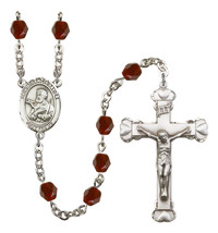 Women's St Francis Xavier Rosary Beads Birthstone January R6001GTS-8037 - $74.55