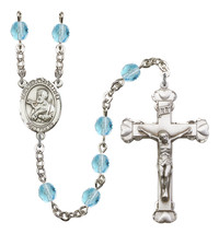Women's St Francis Xavier Rosary Beads Birthstone March R6001AQS-8037 - $74.55