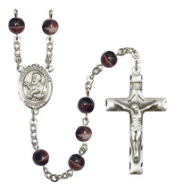 Men's St Francis Xavier Rosary Beads Silver Plated R6004S-8037 - $74.55