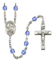 Women's St Francis Xavier Rosary Beads Birthstone September R6000SAS-8037 - $74.55