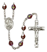 Women's St Francis Xavier Rosary Beads Silver Plated R6008GTS-8037 - $74.55