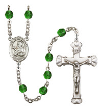 Women's St Francis Xavier Rosary Beads Birthstone May R6001EMS-8037 - $74.55