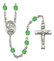 Women's St Francis Xavier Rosary Beads Birthstone August R6000PDS-8037 - $74.55