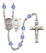 Women's St George Rosary Beads Birthstone September R6000SAS-8040S5 - $74.55