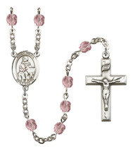 Women's St Giles Rosary Beads Silver Plated Birthstone June R6000LAMS-8349 - $74.55
