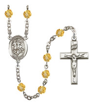 Women's St George Rosary Beads Silver Plated Birthstone November R6000TPS-8040 - $74.55