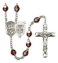 Women's St George Rosary Beads Silver Plated R6008GTS-8040S6 - $74.55