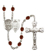 Women's St George Rosary Beads Silver Plated Birthstone January R6001GTS... - $74.55