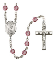 Women's St Helen Rosary Beads Silver Plated Birthstone Febuary R6000AMS-... - $74.55