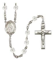 Women's St John Chrysostom Rosary Beads Birthstone April R6000CS-8357 - $74.55